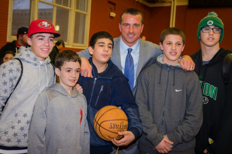 Chris Herren with Nazzaro Center Teens
